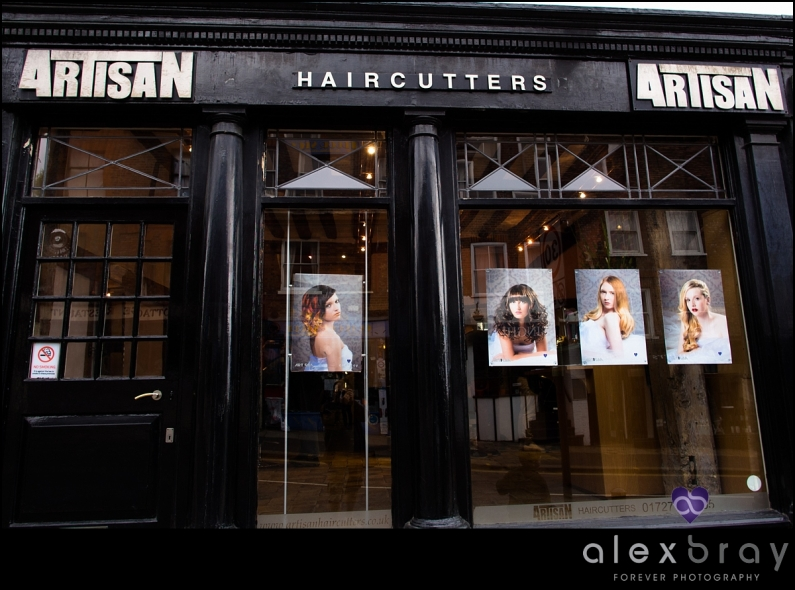 Commercial hair photography for St Albans Hairdressers Artisan