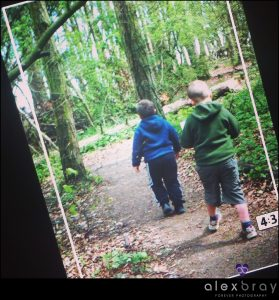 Children walking in woods on Cadbury Eggsploration trial